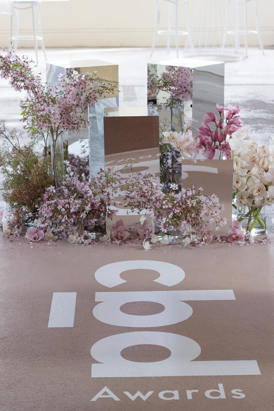 On My Hand Florist - event styling for CBD awards in Hamilton floral decorations