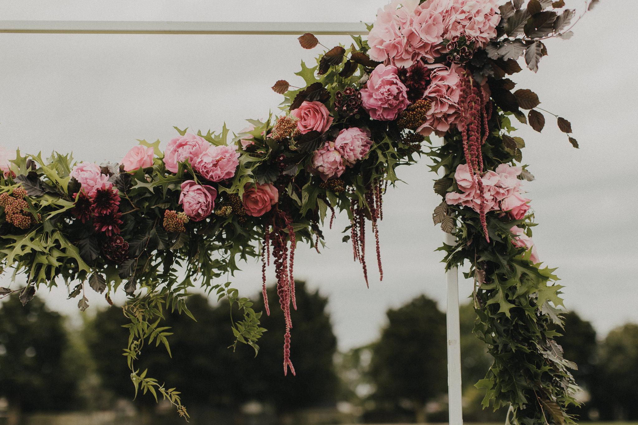 On My Hand Florist - Real wedding portfolio - Sasha and Josh - hanging flower arrangement