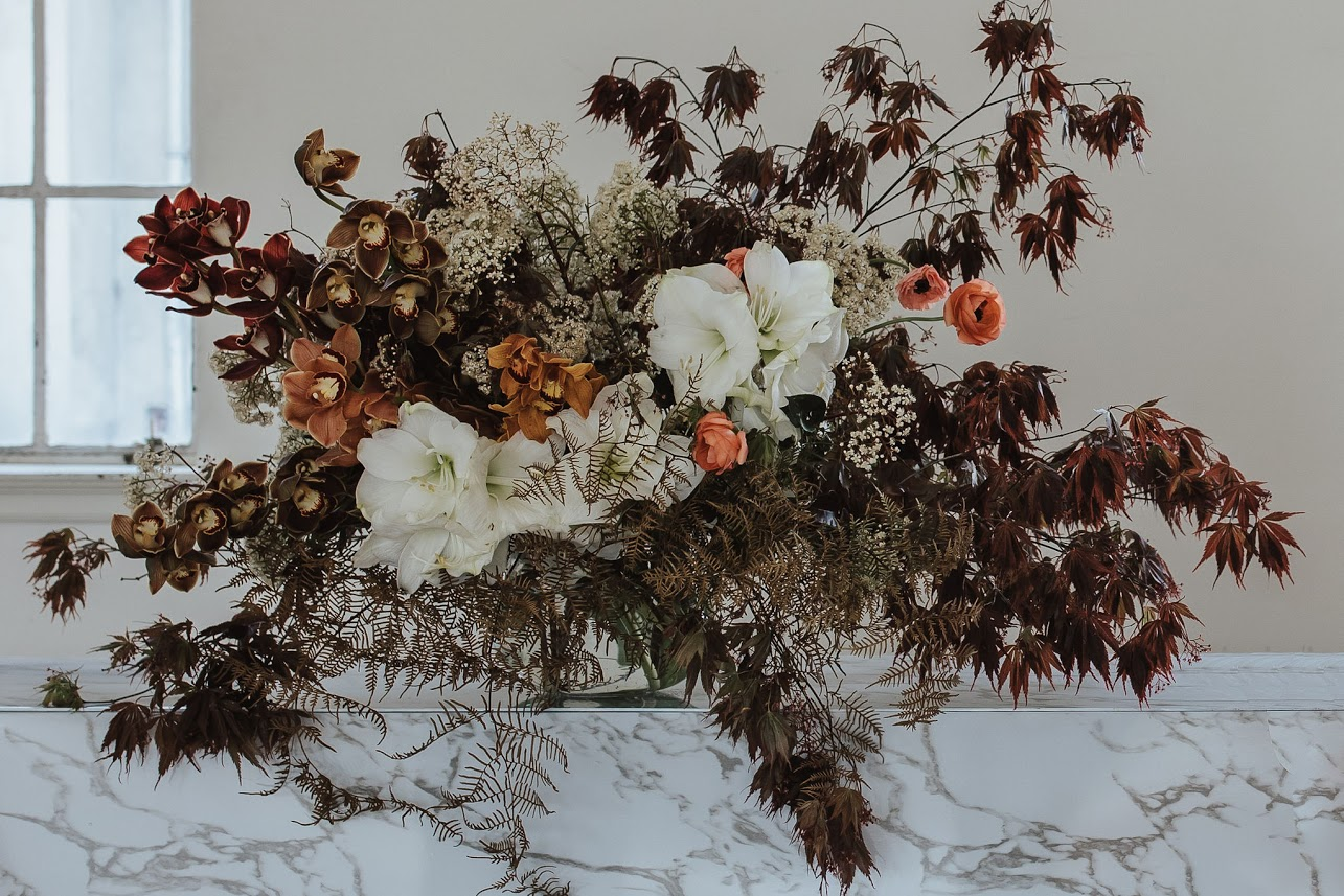 On My Hand styled shoot with Together Journal photography by Coralee Stone - floral table arrangement