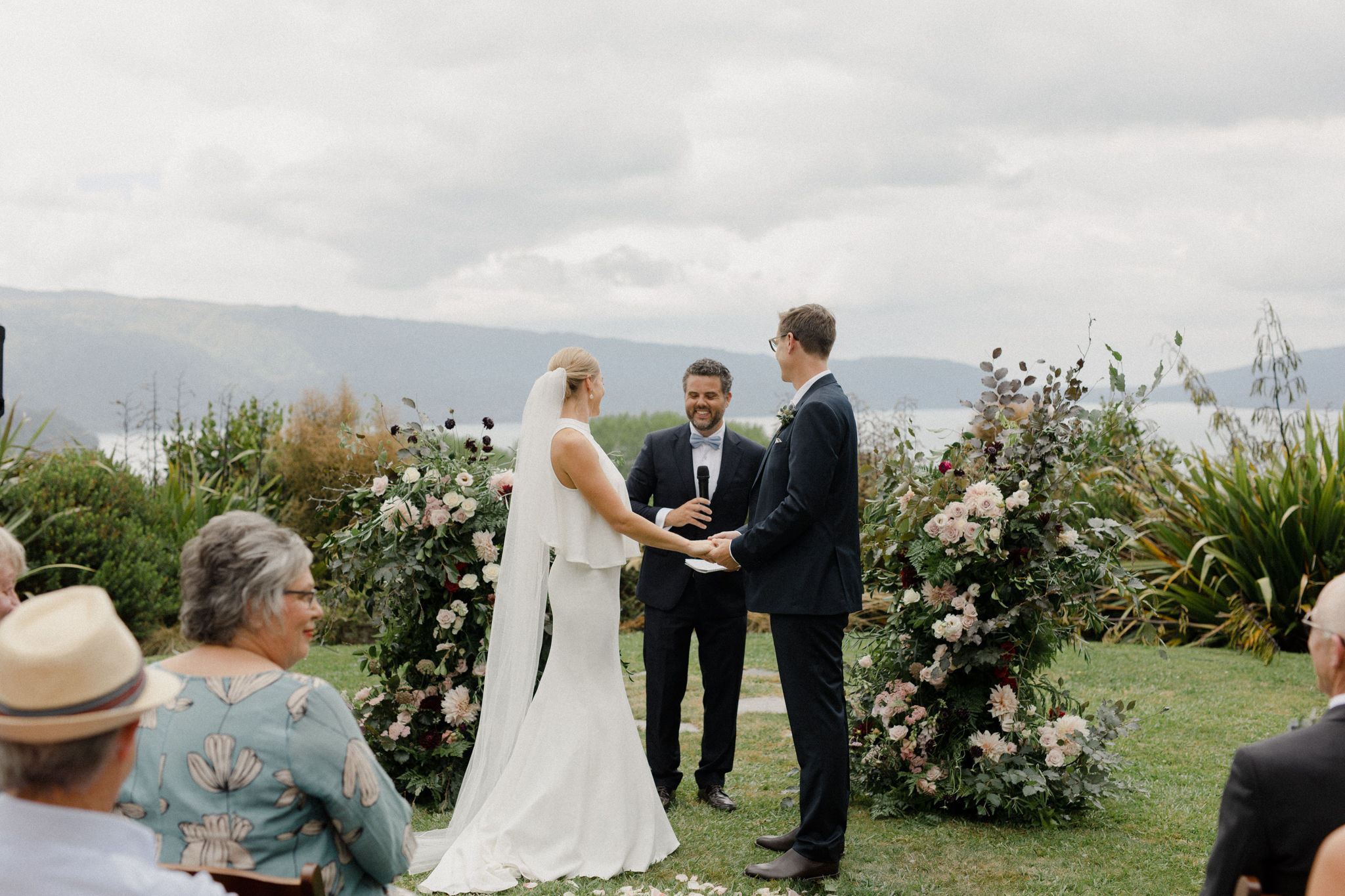 On My Hand wedding flowers - real wedding portfolio - Katy and Mike - outdoor ceremony with floral arrangements