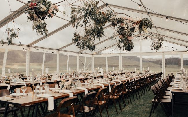 On My Hand wedding flowers - real wedding portfolio - Hannah and Tom - marquee reception styling
