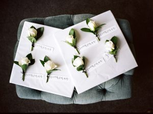 On My Hand Florist - Real wedding portfolio - Katie and Dan buttonholes by Jonny Scott Photography