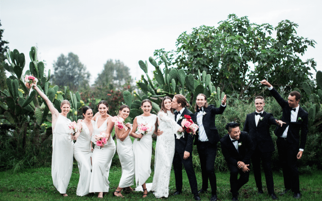 On My Hand Florist - Real wedding portfolio - Katie and Dan bridal party