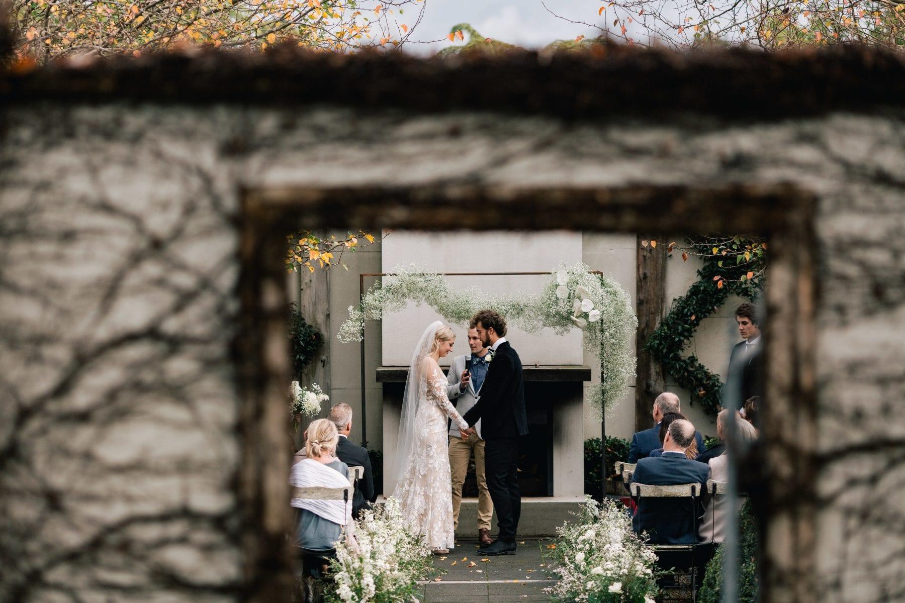 On My Hand Florist - Reuben and Hannah wedding ceremony aisle flowers