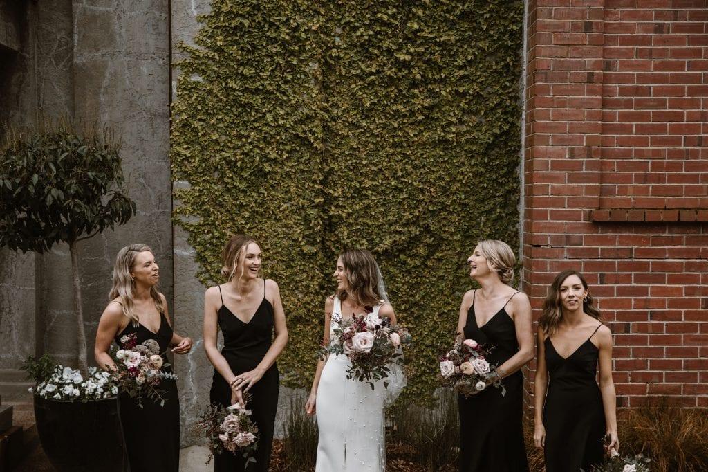 On My Hand Florist - real wedding portfolio - Rachel and Jonny wedding - bride and bridesmaids bouquets