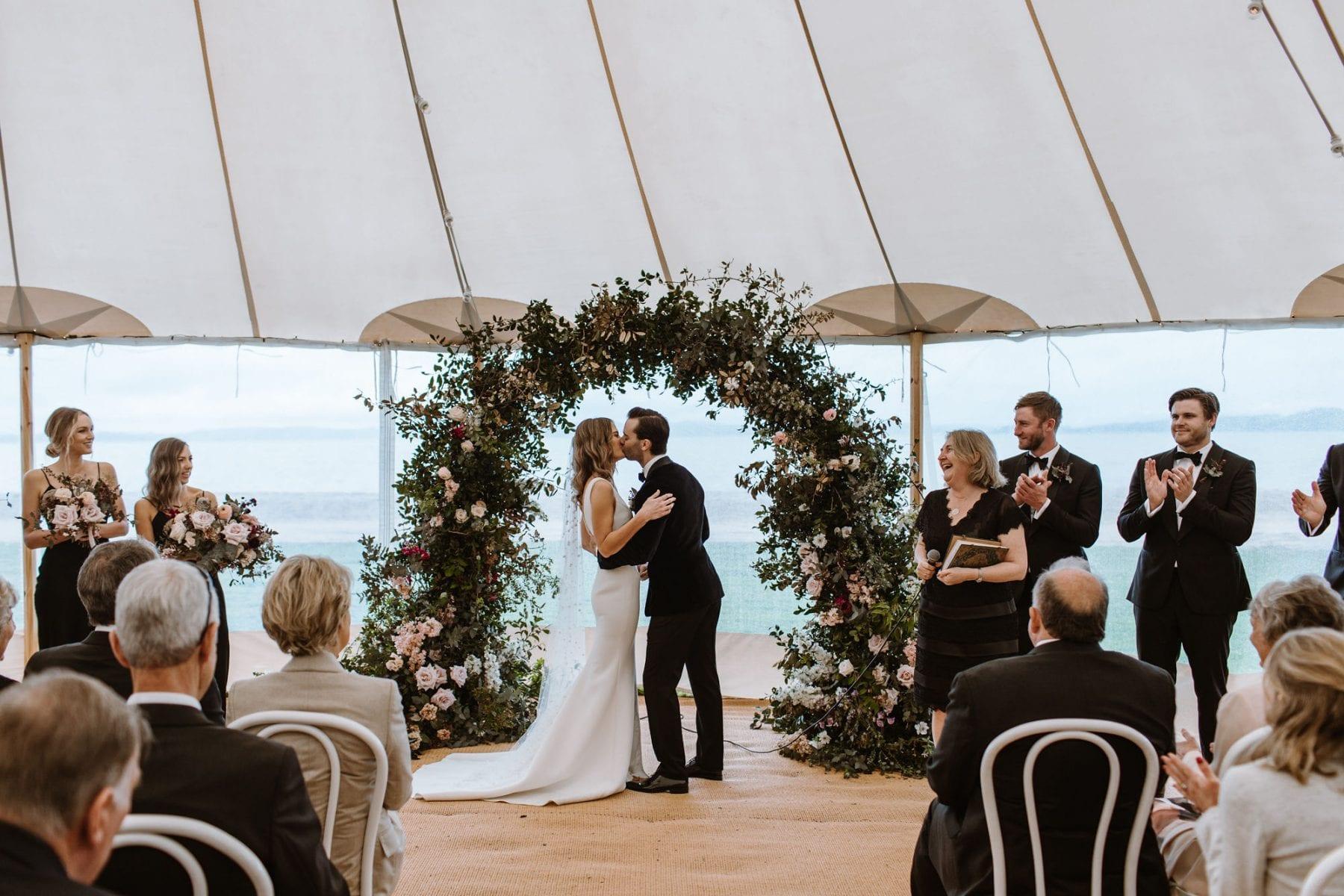On My Hand Florist - real wedding portfolio - Rachel and Jonny wedding - flower archway