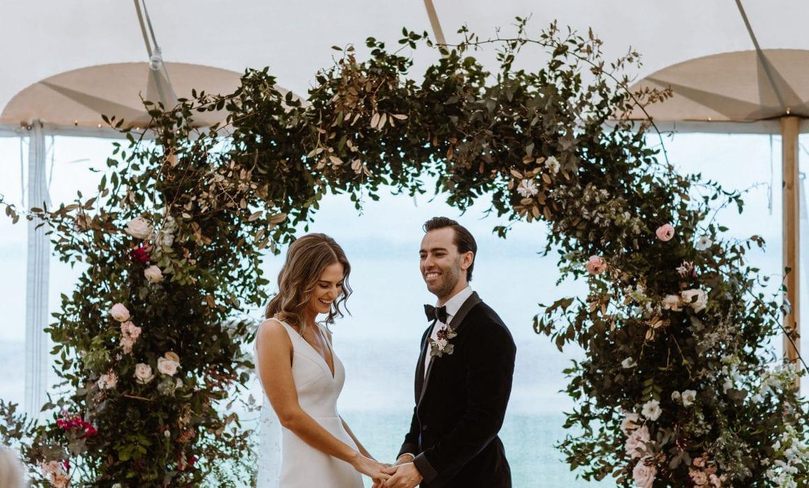 On My Hand Florist - real wedding portfolio - Rachel and Jonny wedding floral archway