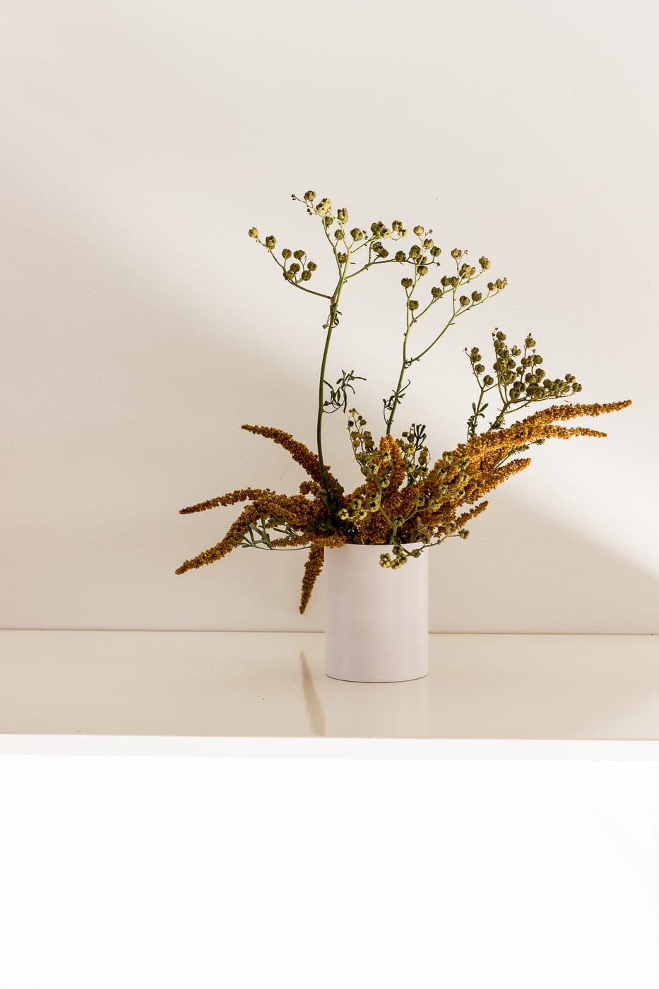 Natural colour mini arrangement in vase - On My Hand Florals and Styling, Tauranga, Bay of Plenty.