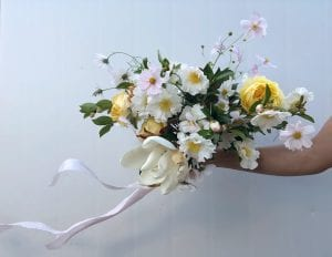 On My Hand Florist for Weddings and Events in Tauranga, Bay of Plenty. Stunning spring bouquet